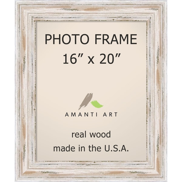 Alexandria Whitewash Photo Frame 16x20 21 X 25 Inch