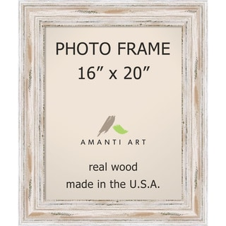 Alexandria Whitewash Photo Frame 16x20' 21 x 25-inch