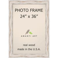 Alexandria Whitewash Photo Frame 24x36' 29 x 41-inch