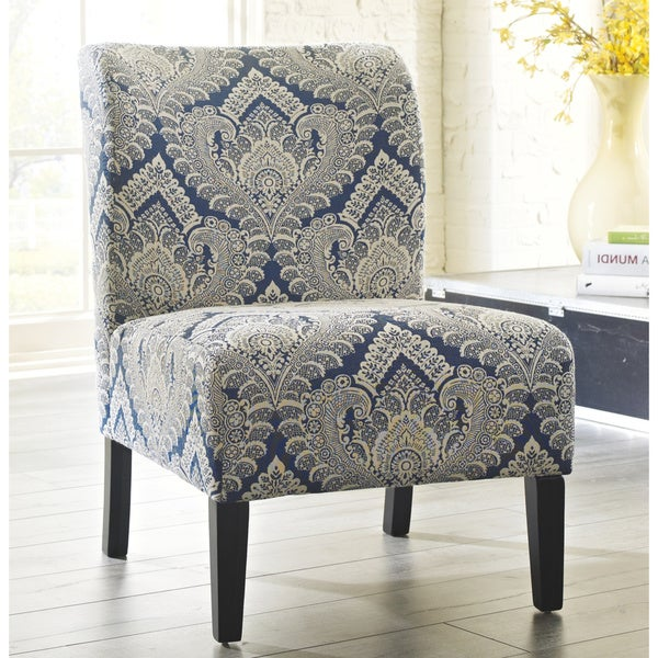 Honnally Contemporary Patterned Sapphire Accent Chair. Opens flyout.