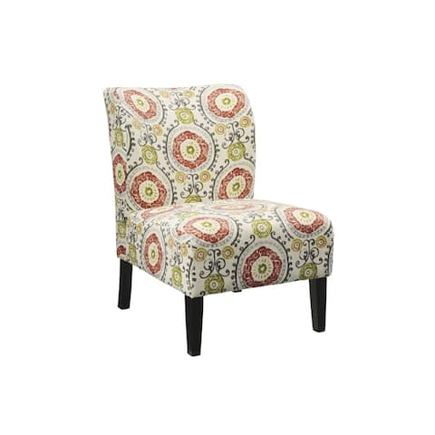 Honnally Contemporary Floral Accent Chair