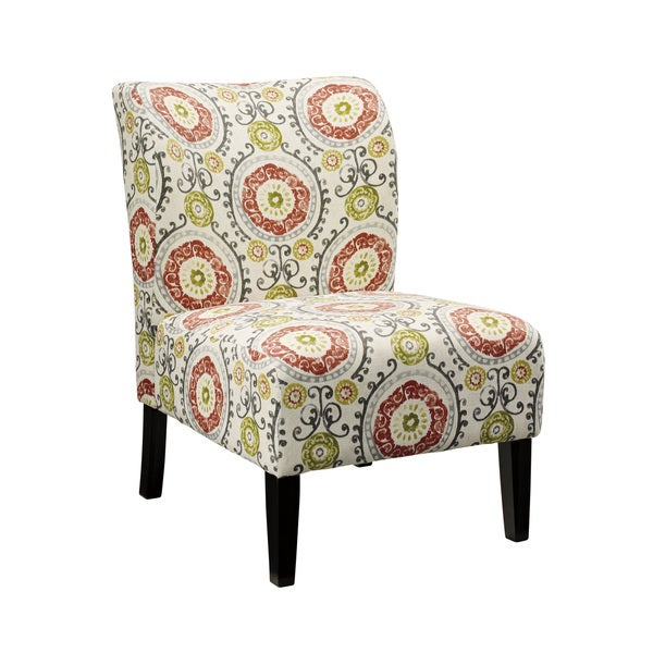 Simple Floral Accent Chair Decoration