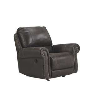 Signature Design by Ashley Breville Charcoal Rocker Recliner
