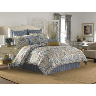 Croscill Captain's Quarters Print Damask 4-Piece Comforter Set