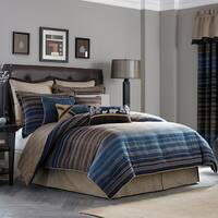 Croscill Clairmont Chenille Jacquard Woven Stripe 4-Piece Comforter Set