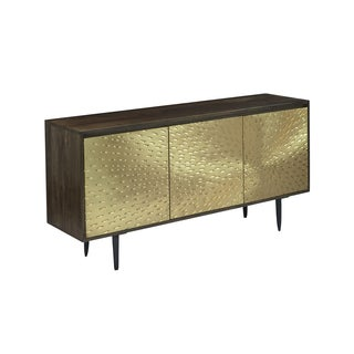 Christopher Knight Home Brasstone Metal Three-door Sideboard