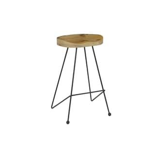 Christopher Knight Home Natural/Black Midcentury Barstool (Set of 2)