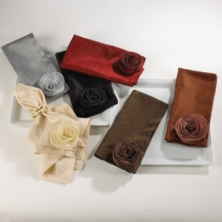 Rose Design Napkin - Set of 4