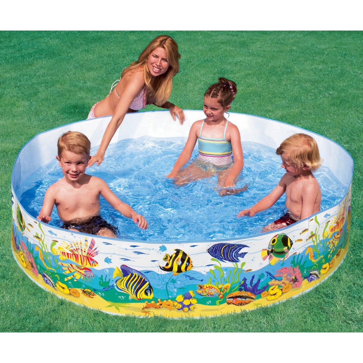 Intex Recreation 6-foot by 15-inch Ocean Reef Snapset Poo...