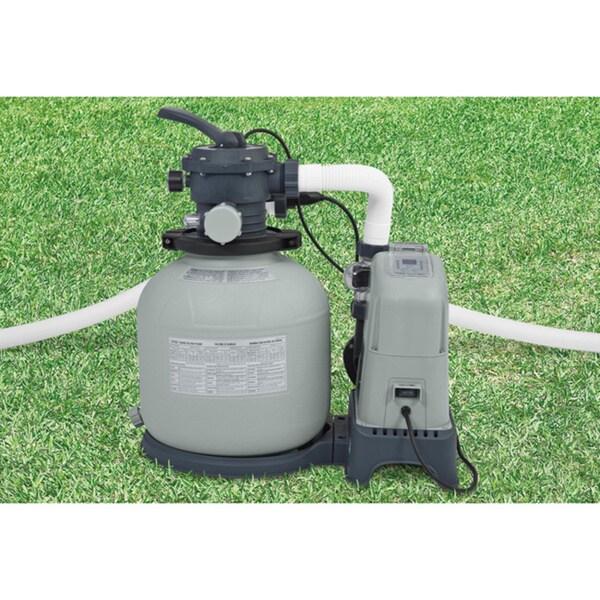 Shop Intex Krystal Clear 8 500 Gallon Sand Filter Pump And