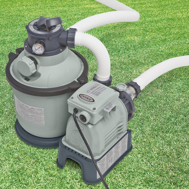 Intex Recreation Krystal Clear 1,200 GPH Sand Filter Pump...