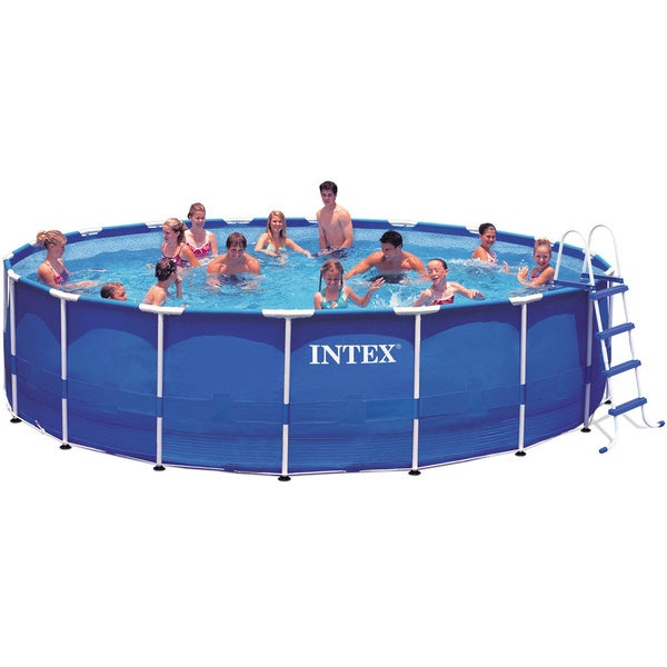 intex 18 foot by 48 inch metal frame pool free shipping today 17233342. Black Bedroom Furniture Sets. Home Design Ideas