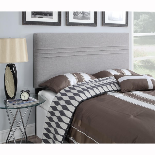 shop silver king california king size upholstered headboard on sale free shipping today. Black Bedroom Furniture Sets. Home Design Ideas