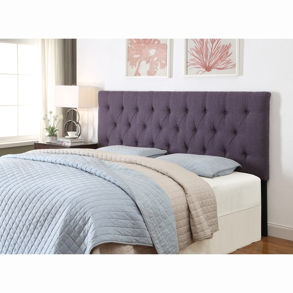 shop purple queen full size tufted upholstered headboard free shipping today. Black Bedroom Furniture Sets. Home Design Ideas