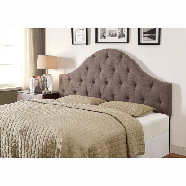 shop light grey queen full size tufted upholstered headboard free shipping today overstock. Black Bedroom Furniture Sets. Home Design Ideas
