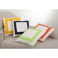 Banded Down Filled 18-inch Throw Pillow