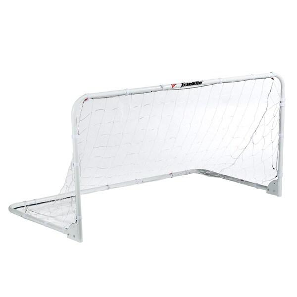Franklin Sports White Steel, PE 6-foot x 3-foot Folding Soccer Goal