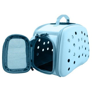 Narrow Shelled Collapsible Perforated Lightweight Military Grade Transportable Designer Pet Carrier