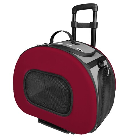 Tough-shell Wheeled Collapsible Final Destination Pet Carrier - One size