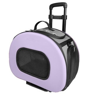 Tough-shell Collapsible Wheeled Final Destination Pet Carrier - One size
