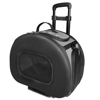 Tough-shell Final Destination Wheeled Collapsible Pet Carrier - One size