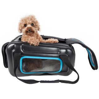 Airline Approved Collapsible Lightweight Ergo Stow-away Contoured Pet Carrier - One size