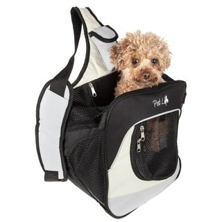 Single Strap Over-the-shoulder Navigation Hands Free Backpack and Front Pack Pet Carrier - One size