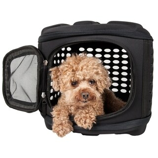 Circular Shelled Military Grade Perforate Lightweight Collapsible Transporter Pet Carrier - One size