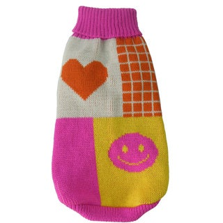 Lovable-bark Heavy Knit Ribbed Fashion Pet Sweater
