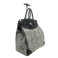 Graphic Paisley Foldable Rolling Carry-on 14-inch Laptop/Tablet Tote Bag