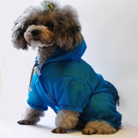 The Ultimate Waterproof Thunder-paw Adjustable Zippered Folding Travel Dog Raincoat