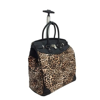 Link to Wild Leopard Foldable Rolling Carry-on 14-inch Laptop/ Tablet Tote Bag Similar Items in Carry On Luggage