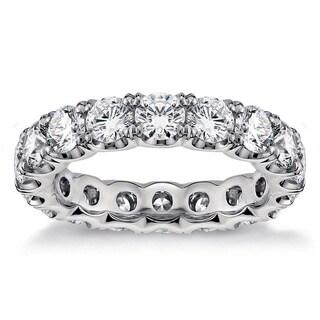 3.1 - 3.5ct TDW Round Diamond U-shape Eternity Band (G-H, SI1-SI2)