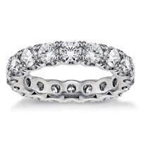 3.1 - 3.5ct TDW Round Diamond U-shape Eternity Band