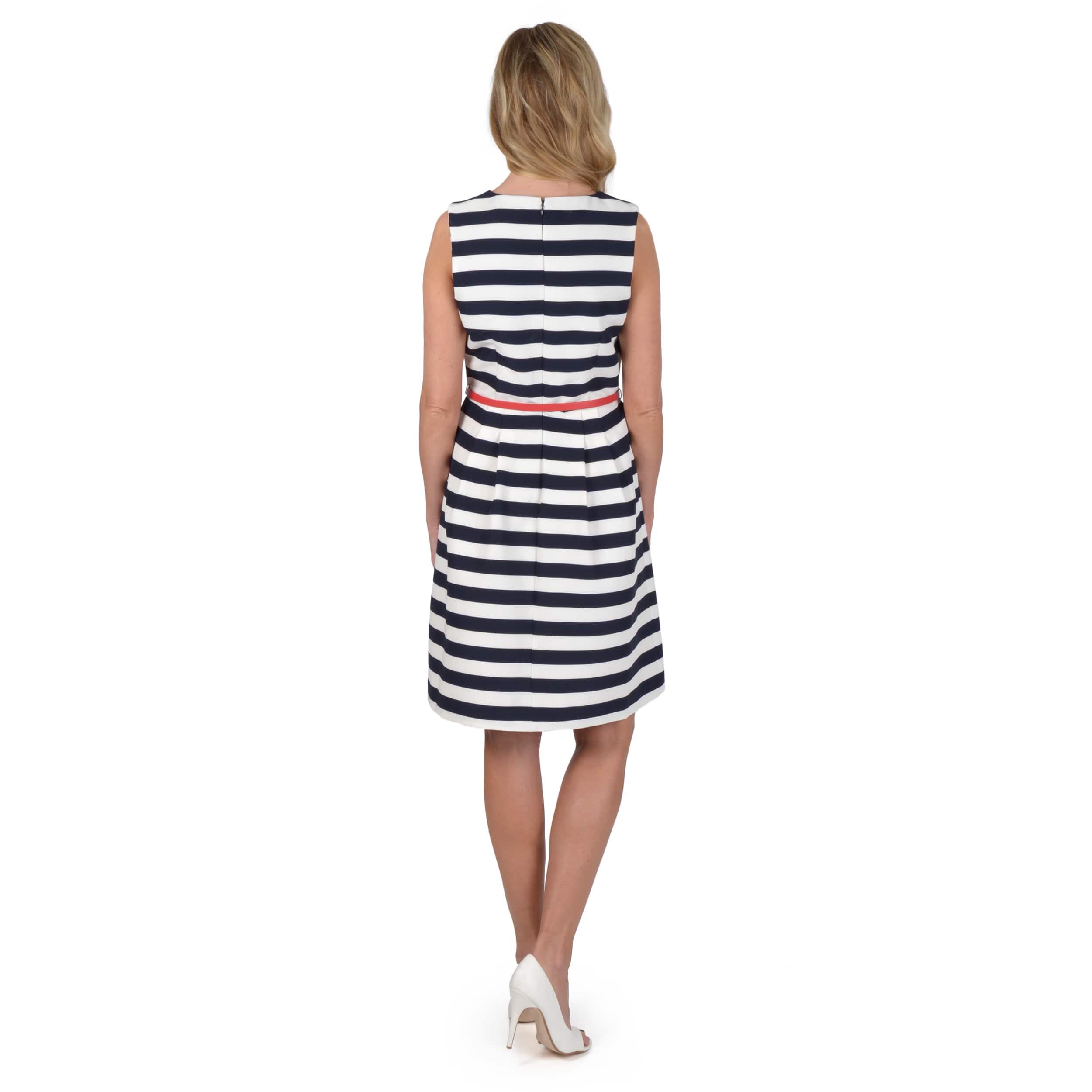 Shelby & Palmer Women's Belted Sleeveless Dress