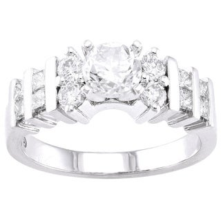 Beverly Hills Charm 14k Gold 1 1/3ct TDW Diamond Engagement Ring