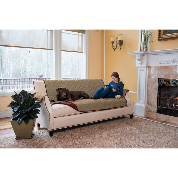 Charmant Home Fashion Designs Kaylee Collection Quilted Reversible Sofa Protector