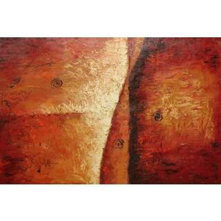 'Brick Wall' Contemporary Original Oil Painting