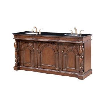 Legion Furniture Double Sink Vanity with Black Marble Top...