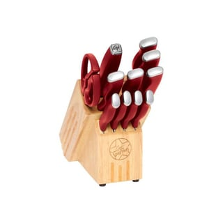 Guy Fieri Silver and Red Inlay Logo 12-piece Cutlery Set