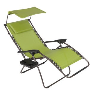 Pacific Green XL Zero Gravity Chair with Canopy and Tray