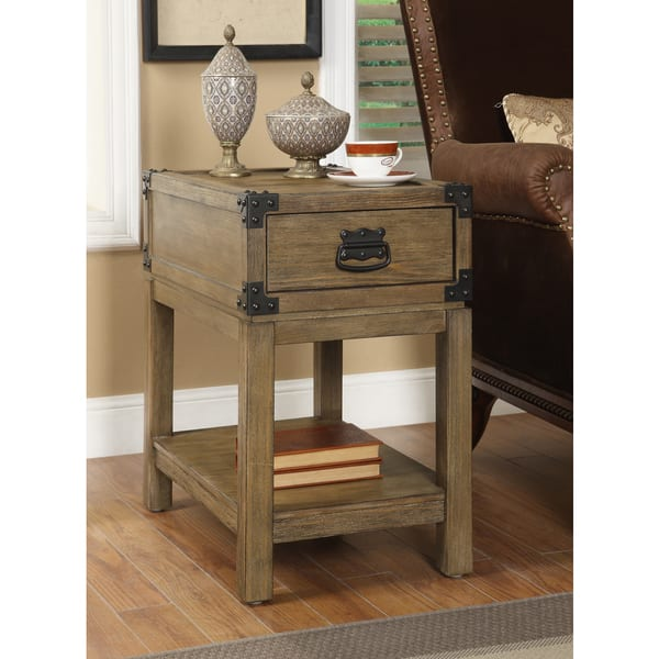 Christopher Knight Home Carmel Burnished One Drawer Chairside Table