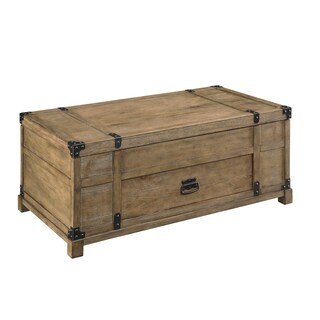 Christopher Knight Home Carmel Burnished Trunk with Drawer