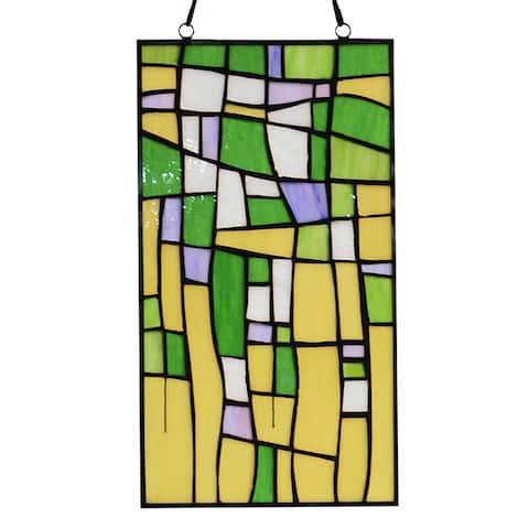 Tiffany-style Furaha 16-inch Window Panel - M