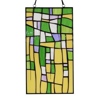 Tiffany-style Furaha 16-inch Window Panel