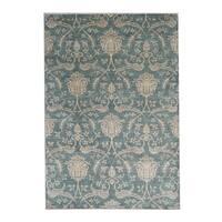 Handmade Herat Oriental Afghan Ikat Wool Rug (Afghanistan) - 5'7 x 8'1