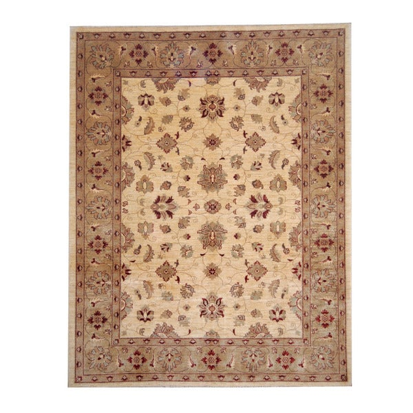 Herat Oriental Afghan Hand-knotted Oushak Wool Rug (6'8 x 8'5) - 6'8 x 8'5