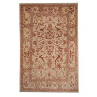 Herat Oriental Afghan Hand-knotted Oushak Wool Rug (5'8 x 8'10) - 5'8 x 8'10