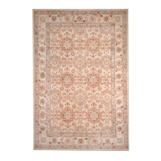 Herat Oriental Afghan Hand-knotted Oushak Wool Rug (6' x 8'9)
