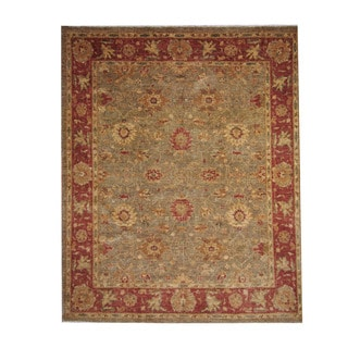 Herat Oriental Afghan Hand-knotted Oushak Wool Rug (6'10 x 8'5)